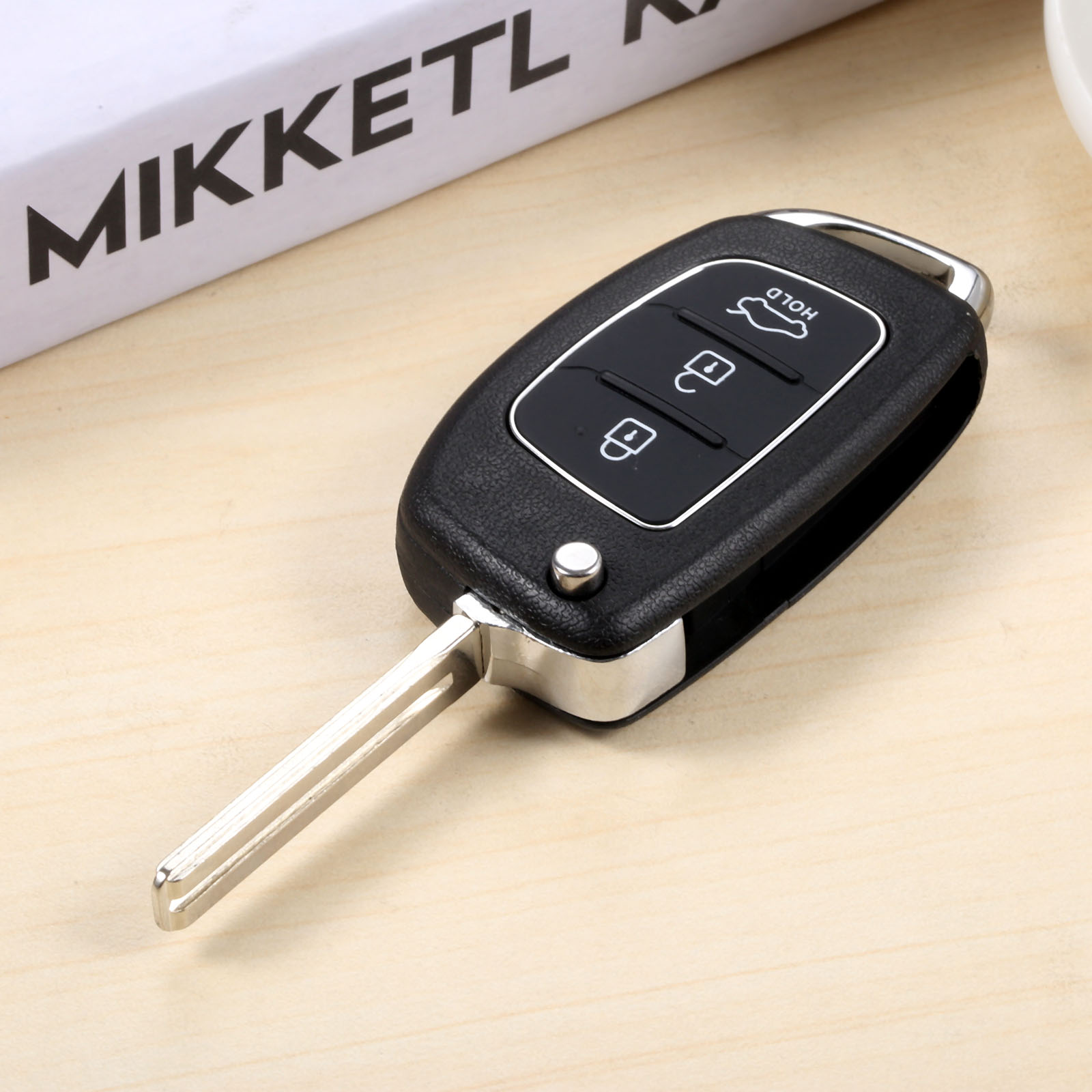 3 Buttons Remote Key Folding Flip 433MHz ID46 For HYUNDAI Elantra Avante Sonata Santa Fe Eon Click Accent Solaris Avega in Car Key from Automobiles Motorcycles