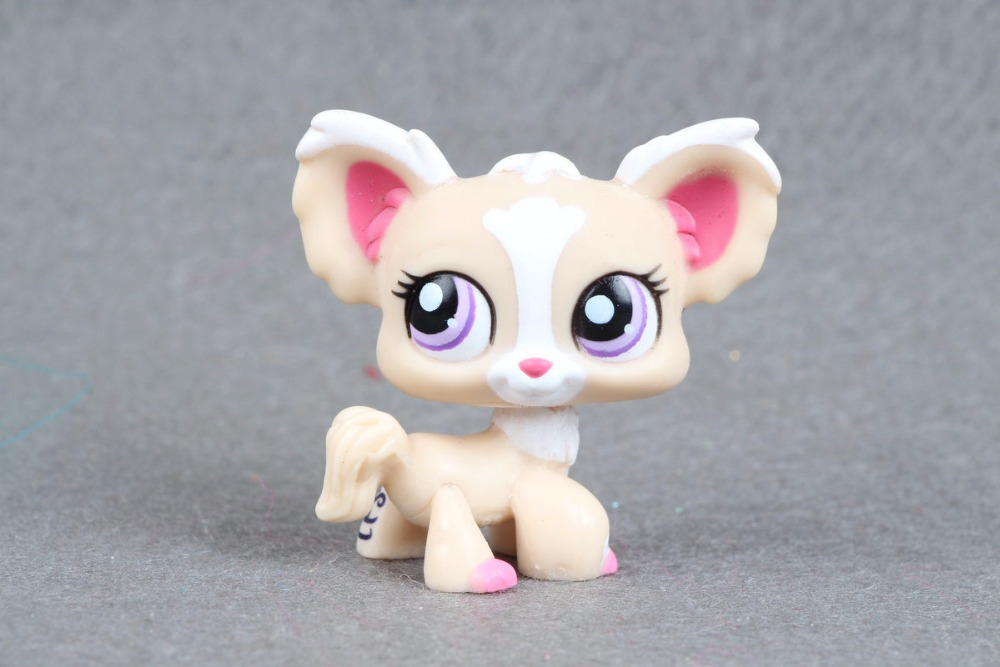 New pet Genuine Original LPS #1892 Tan Chihuahua Puppy Dog Purple Eye figure Toys new top grade gift pure tan wooden type h chun tan mu shu h kuan