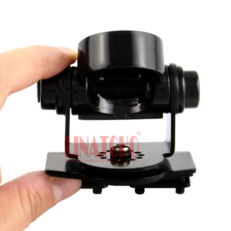 RB-400S Small Black Car antenna mount Trunk lid hatchback mount bracket for mobile car radio antenna SO239 connector