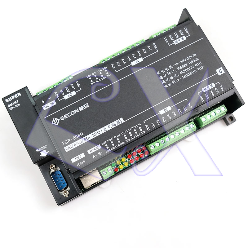 Image 3 - 8AI Analog Input 4AO Analog Output 8DI Switch Input 8DO Relay Ethernet IO Module RS485 RS232 MODBUS TCP&RTU-in Connectors from Lights & Lighting