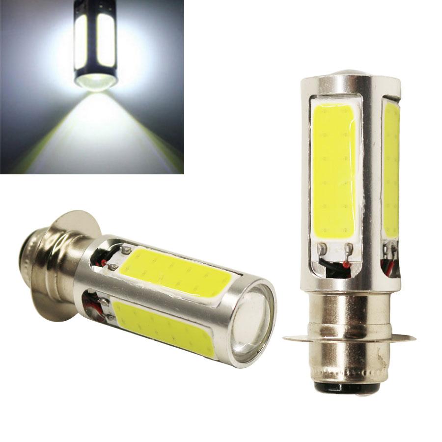 1PCS H6M PX15d High Quality Xenon White COB LED For ATV Car Motor Bike Headlight Bulb Fog Light Lamp DC12V