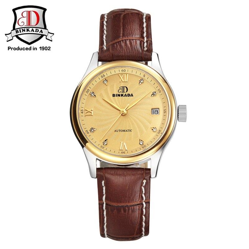 acb54104351 2019 Marca Mulheres Relógio BINKADA Relógio Mecânico Relógios Meninas 2019  Mulheres De Luxo Diamante Senhoras Relógio