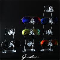 New Clear Acrylic 2 4 Tiers Sunglasses Display Stand Glasses Spectacle Holder Eyeglasses Specs Support Rack