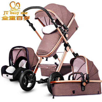 RU free ship!  10USD COUPON !Original Baby Strollers 3 In 1 Carriage Super Light Car High Landscope Ultra Convenience To Travel original hot mum baby strollers 2 in 1 bb car folding light baby carriage six free gifts send rain cover