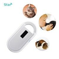 134.2KHz Animal Scanner ISO FDX B Pet Scanner RFID Microchip Reader OLED Display Portable Animal Microchip Scanner for Dog