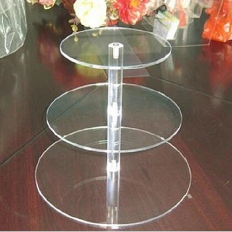 3 Tier Crystal Clear Circle Acrylic Cupcake Stand Wedding Party High Supply Craft Decor Display Hot Sale circle