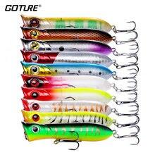 Goture 10 шт popper Рыбная приманка воблеры и крутящиеся приманки