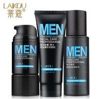 LAIKOU Homens Cuidados Da Pele Definir Mar minerais Creme Hidratante + Toner + Homem de Limpeza Facial do Cuidado Da Pele Cosméticos Gift Set 3 pçs/set
