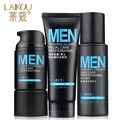 LAIKOU Men Skin Care Set Sea minerals Moisturizing Cream+Toner +Facial Cleanser Man Skin Care Cosmetics Gift Set 3pcs/set