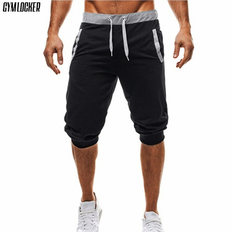 GYMLOCKER New mens shorts compression Fast drying fashion Joggers sweatpants gyms Bodybuilding short pants men Sweatpants ...
