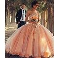 Largo sin tirantes 2016 vestidos de novia vintage de cristal de lujo con cuentas de orange vestido de novia a medida vestidos de novia longo