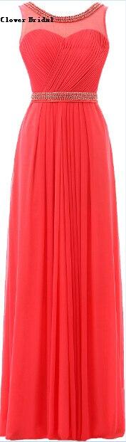 Scoop Floor Length Chiffon Graduation   Bridesmaid     Dresses   Red Long Vestido De Festa Vermelho Longo Vestido Longo Plus Size,BD85