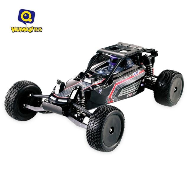 HUANQI 739 1/10 2WD 42 km/h Escala 4CH 2.4G 540 escovado Motor Recarregável Controle Remoto Caminhão Curto Off-estrada RTR Carro
