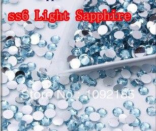 SS6 Light Sapphire    Color 10000pcs/pack Flatback Acrylic Rhinestones Nail Art Rhinestones Free Shipping ss6 light rose color 10000pcs pack flatback acrylic rhinestones nail art rhinestones free shipping