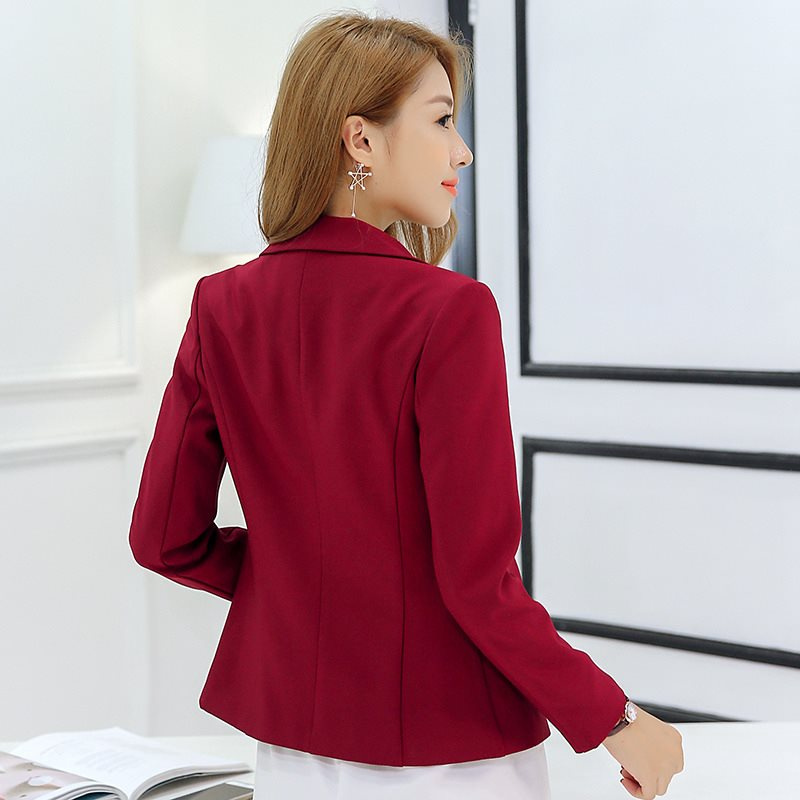 2019 spring autumn new short small suit women's Korean suit women Slim solid color long-sleeved slim female coat blazer femme