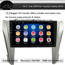 Android Quad Core 10.2″ Car Stereo Video Player 2 Din 1024×600 GPS Navigation for Toyota Camry 2015 with Wifi Bluetooth Radio