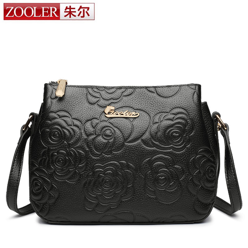 ZOOLER Women Genuine Leather Handbags Famous Brand Handbag Messenger Small Bag Shoulder Bag Tassen Sac a Main 2017 Fashion Borse women handbags famous brands handbag messenger bags genuine leather shoulder bag tote tassen sac a main 2017 borse bolsos mujer