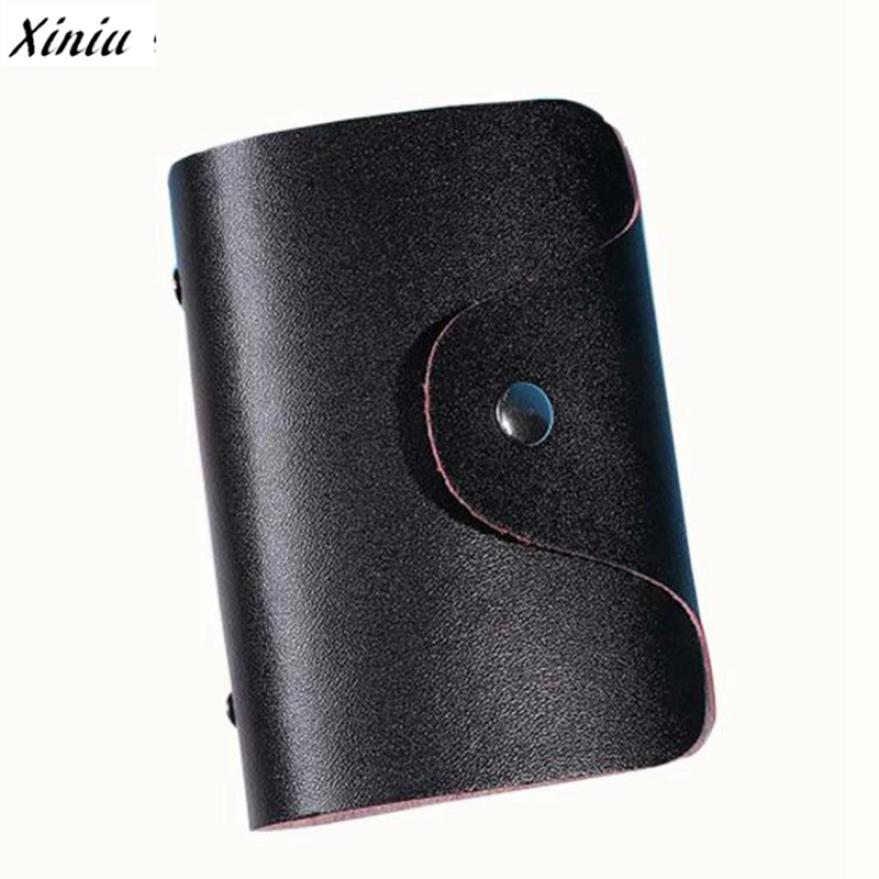 XINIU Card Holder Unisex Leather Credit Card Holder Bolsas Case Business Card Wallet Carteras Mujer#99 deli card holder stationery for business credit card name id card holder case wallet box porte carte portable card box