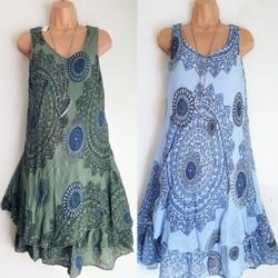 Podwójna warstwa Sukienka linia kaskadowe wzburzyć Sukienka w stylu Vintage Retro szata Kleid Plus rozmiar sukienki dla kobiet 4xl 5xl szata Femme ete 2019 4