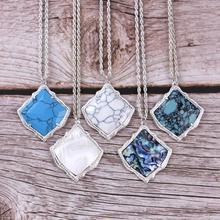 ZWPON Brand Kyrie Fan Shape Abalone Shell Pendant Necklace for Women