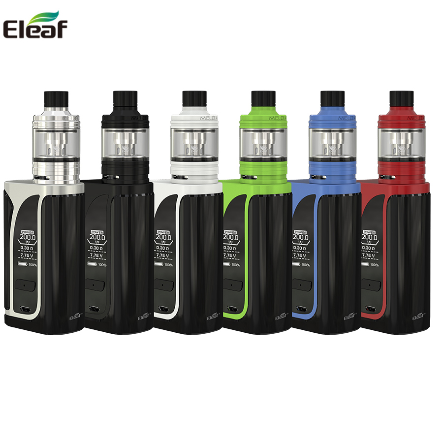 Original Eleaf iKuun i200 Kit ikuu i200 Box Mod Vape 4600mah Battery With MELO 4 D22Atomizer