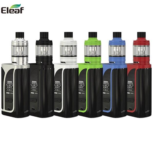 Original Eleaf iKuun i200 Kit ikuu i200 Box Mod Vape 4600mah Battery With MELO 4 D22Atomizer EC2 Coil Head E Cigarette vaporizer