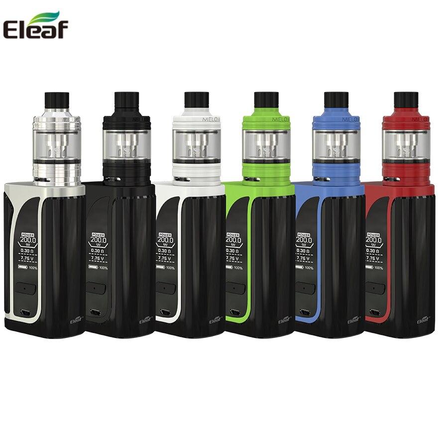 Original Eleaf ikuu i200 Kit 200 watt Box Mod Vape 4600 mah Mit MELO 4 D22 Tank Fit EC2 Spule kopf Electroic Zigarette verdampfer