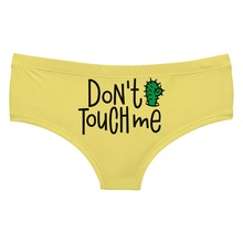 LEIMOLIS DONT TOUCH ME CACTUS funny print sexy hot panties female kawaii Lovely underwear push up briefs women lingerie thongs