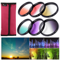 6 unids 58mm graduado color kit de filtro para canon eos 1100d 600d 18-55mm lente lf349