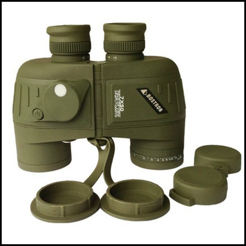 Waterproof 7x50 HD Marine Floating Boat covered compass military Binocular Telescope with Interal Compass Rangefinder Reticle