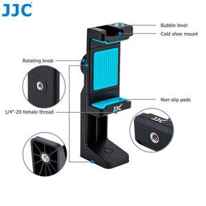 Image 3 - JJC Smart Phone Stand 56 105mm Adjustable Clip Selfie Stick Mini Tripod Mount Phones Holder for iPhone/HUAWEI/MI/Samsung
