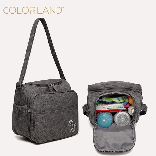 Colorland Bebé Bolsa Grande Bolsa de Pañales Organizador Maternidad Bolsas de Pañales Para La Madre Del Panal Del mensajero Bolsas bolsa maternidade