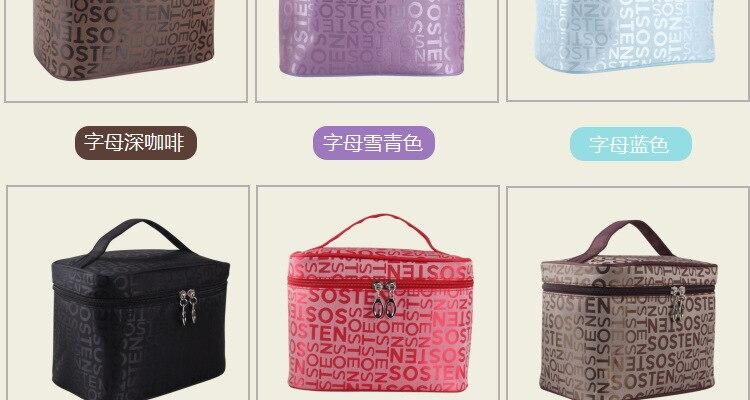 Extra grande capacidade mulher cosméticos sacos de