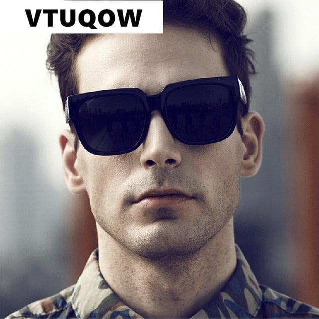 e2c8ae6659c56 Quadrado de alta Qualidade Óculos De Sol Dos Homens Da Marca Designer  Clássicos de Condução Espelho ...
