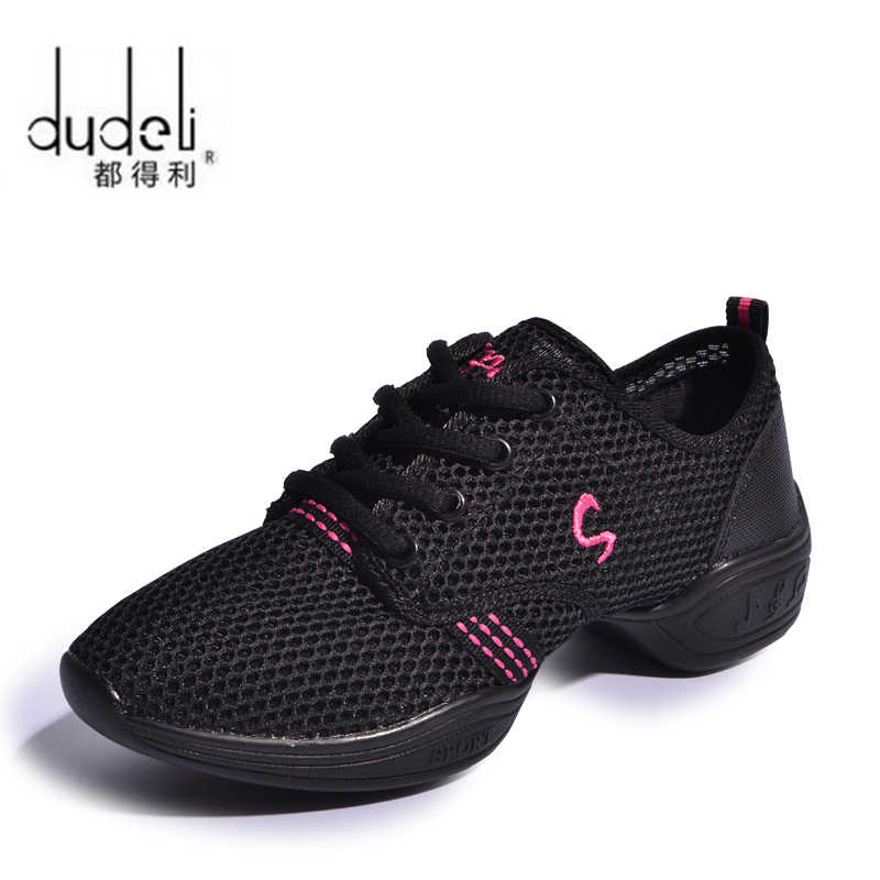 DUDELI New Sports Feature Soft Outsole Breath Dance Shoes Sneakers For Woman Practice Shoes Modern Dance Jazz Shoes GSS85