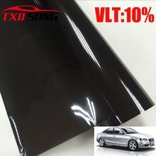 50X300CM(1.64FTx9.84ft) VLT:10% Car Window solar film for car window UV Protect with Black 5%,15%20%25%30%35%40%45% for Option