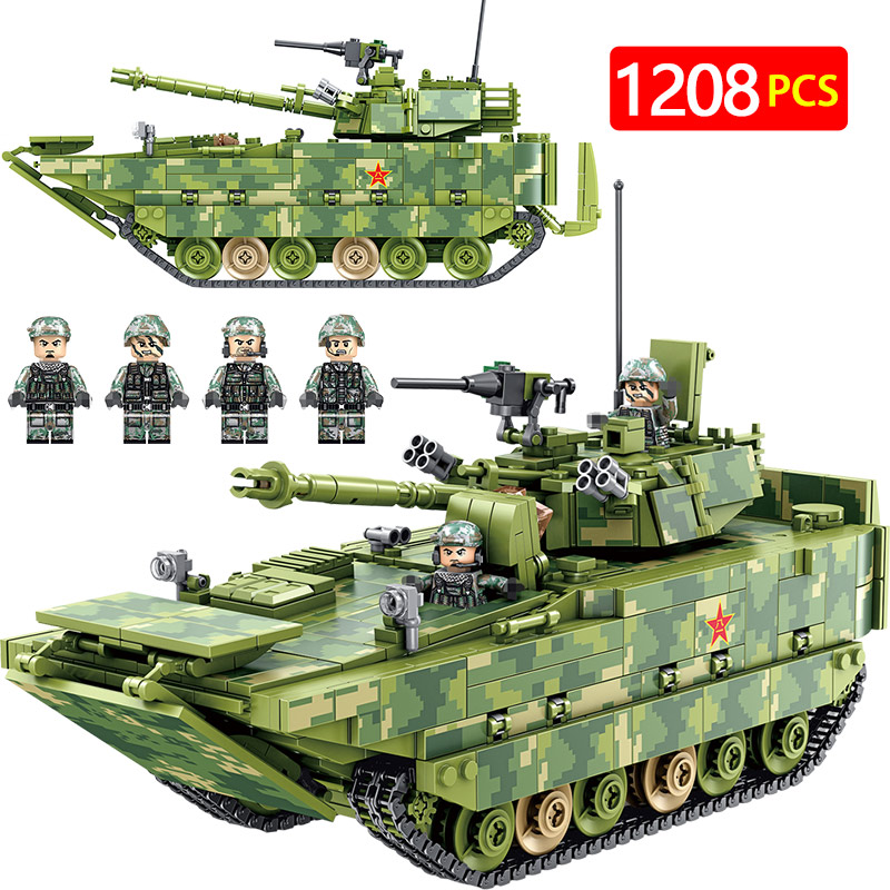 Military Amphibious Infantry Fighting Vehicle Tank Building Blocks City Police Figures Bricks Toys Compatible with Legoed WW2Military Amphibious Infantry Fighting Vehicle Tank Building Blocks City Police Figures Bricks Toys Compatible with Legoed WW2