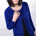 Grace Style Thick Mohair Shrugs For Women Long Sleeve Cardigan Female