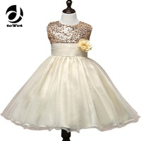 7 Color Red Black Gold Sequin Toddler Tutu Princess Dress Girl Sleeveless Summer Baby Frocks Party
