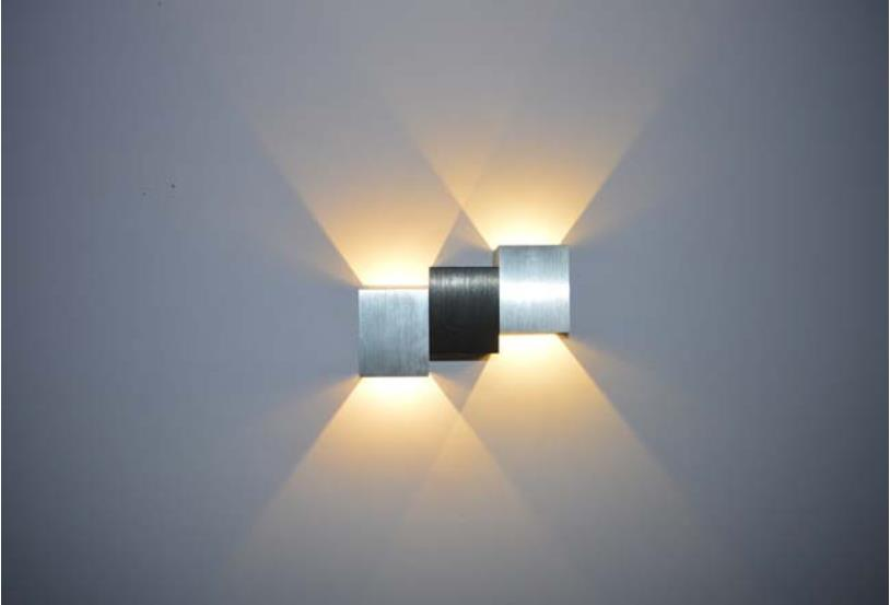 ФОТО Hot sell Modern 2W led wall lamps Aluminum Up/Down AC85-265V Wall Sconce Indoor Light Energy Saving Fixture light