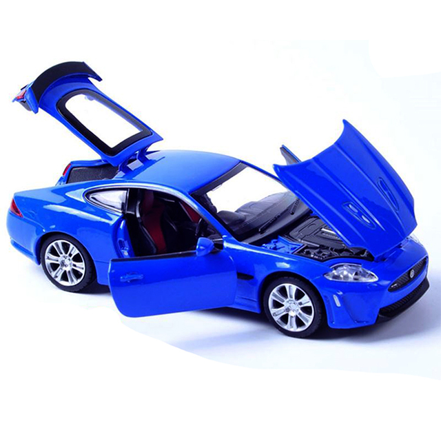 Alta Qualidade 1/32 Escala Jaguar XKR S Sport Car Diecast Carro Modelo Com