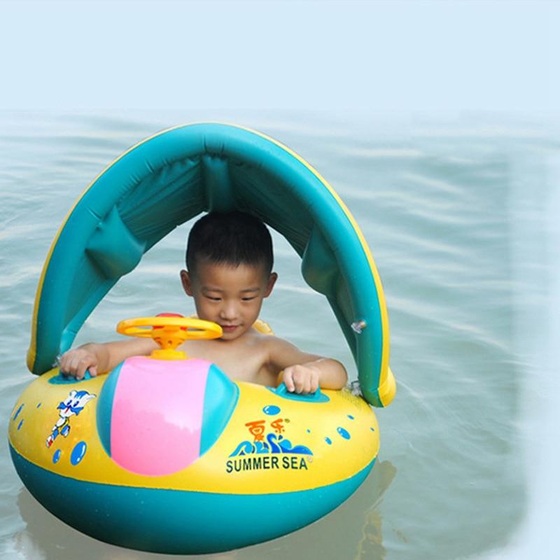 Baby Kids Summer Swimming Pool Swimming Ring Inflatable Swan Swim Float Water Fun Pool Toys Swim Ring Seat Boat Sport for 3-6Y (22)