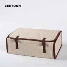 Japanese Style Portable Outdoor Travel Teaware Storage Bag Linen Tea Set Bag for Kung Fu Tea Set Quick Cup Teacup Teapot Handbag