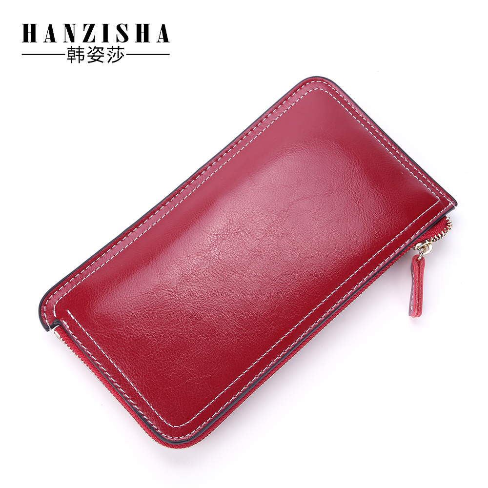 HANZISHA 2017 Genuine Leather Coin Purse cowhide Zipper Short Retro women wallet Cell phone Card Holder Lady Wallet Purse simline fashion genuine leather real cowhide women lady short slim wallet wallets purse card holder zipper coin pocket ladies