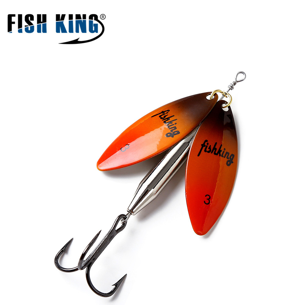 FISH KING Mepps Long Cast deep running spinners Fishing Lure Spinner Bait Fishing Tackle Artificial Hard Fake Fish Metal Lures