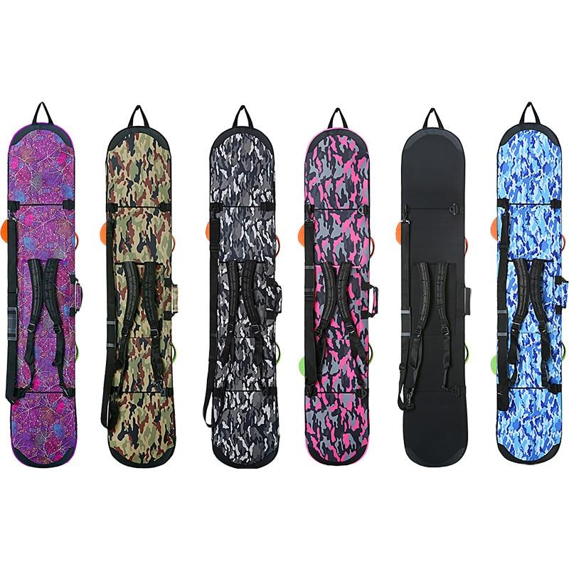 145CM Snowboard Ski Bag Portable Sports Bag Waterproof Skiing Board Bag Camouflage Men Women Ski Snowboard Protective Backpack fl ski gloves snowboard