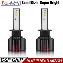 BraveWay 2019 NEW Item CSP Chip Mini Size LED Bulb H1 H4 H7 H8 H11 HB3 HB4 9005 9006 LED Headlight for Cars Light Bulbs Ice Lamp(China)