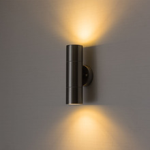 CHJJLL Up down wall lamp indoor light silver housing sconce lighting