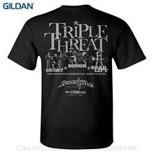 T-shirt Summer Novelty Cartoon T Shirt Ironville Triple Threat Squat Bench Deadlift Powerlifting T-shirt