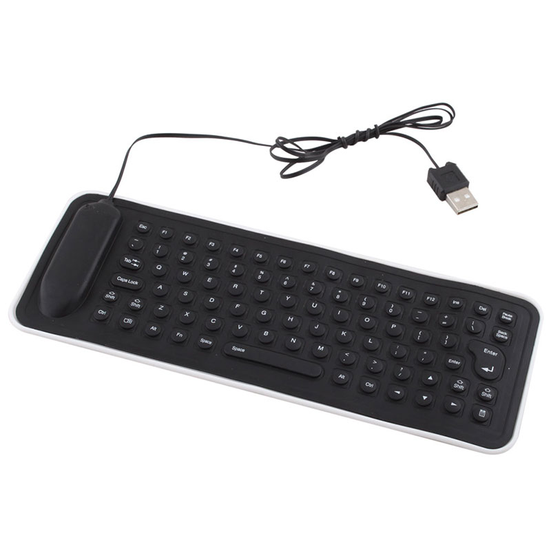 flexible gaming mechanical keyboard usb wired keyboard english silicone pc keyboard for desktop. Black Bedroom Furniture Sets. Home Design Ideas
